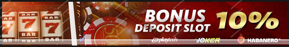 Bonus Deposit 10% Slot Game