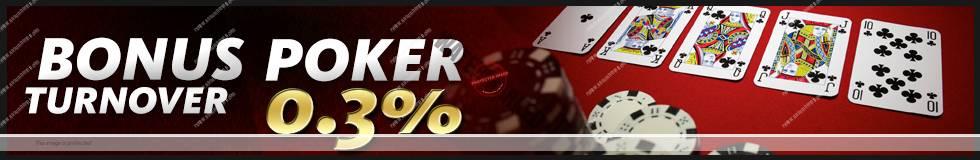 BONUS CASHBACK POKER & DOMINO 0,3%