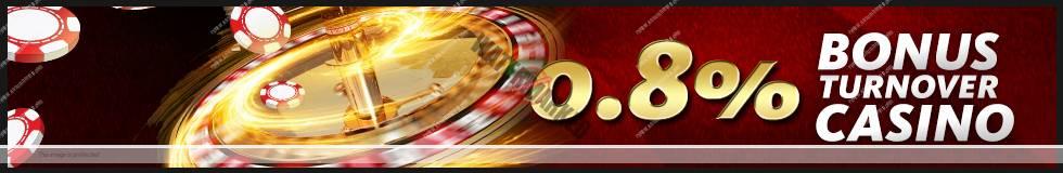 Bonus Turnover 0.8% Live Casino