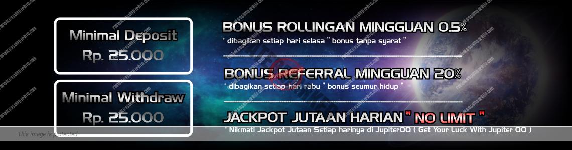 Bonus Menarik di Situs JupiterQQ