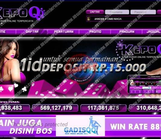 KepoQQ Situs Judi DominoQQ Poker Online Dengan Bonus TO 20%