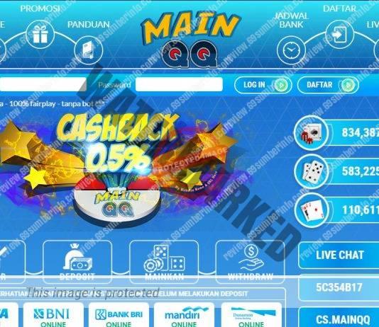 MainQQ Situs Judi Poker DominoQQ Memberikan Bonus CashBack 0.5%