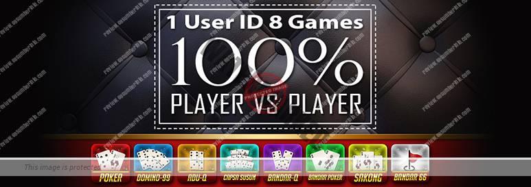 PasarQQ 8 games dalam 1 ID