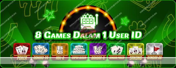 PlayerQQ menyediakan 8 jenis permainan kartu dalam 1 user id